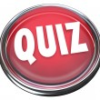 Quiz Red Button Word Test Evaluation Exam — Stock Photo