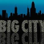 Big City Skyline Cityscape Skyscrapers Urban Night Life — Stock Photo #31285467