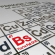 Stock Photo: BS You're Full of It Periodic Table Dishonest Liar False