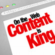 Stock Photo: Content Is King Website Screen Increase Traffic More Articles