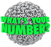 What's Your Number Question Sphere Credit Score Budget Limit — Stock Photo