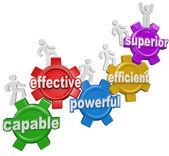 Mensen intensivering van gears staat effectief efficiënt superior — Stockfoto
