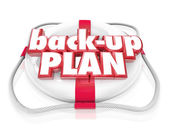 Back-Up Plan Life Preserver Words Alternate Planning B — Stock Photo