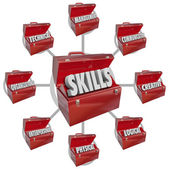 Skills Toolboxes Desirable Characteristics Hiring for Job — Stock Photo