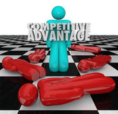 Competitive Advantage People Winner Stands Alone — Stock Photo