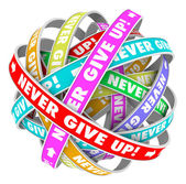 Never Give Up Endless Progress Determination — Stock Photo