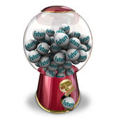 Future Gumball Machine Next Time Forward Progress — Stock Photo