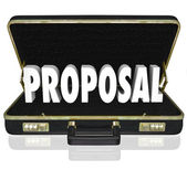 Proposal Sales Presentation Open Briefcase — Stock Photo