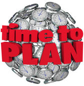 Time to Plan Clock Sphere Planning for Goal Achievement — Stock Photo