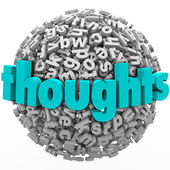Thoughts Letter Sphere Comments Feedback Ideas — Stock Photo