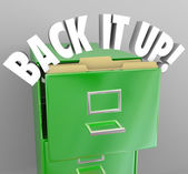 Back It Up Filing Cabinet Storage Important Documents — Stock Photo