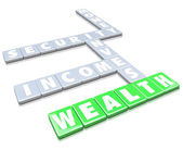 Wealth Making Money Words Letter Tiles Grow Income — Stock Photo
