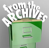 From the Archives File Cabinet Retrieve Historical Records — Stock Photo