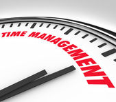 Time Management Words Clock Timer Managing Hours — Stock Photo
