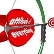 Attitude is Everything Bow Arrow Positive Outlook Wins Game — Stock Photo #32468705