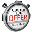 Limited Time Offer Discount Savings Clerance Event Sale — Stok fotoğraf
