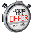 Limited Time Offer Discount Savings Clerance Event Sale — Stock Photo