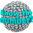 Stock Photo: Know the Number Question Pound Symbol Hashtag Sphere