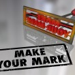 Stock Photo: Make Your Mark Branding Iron Lasting Impression