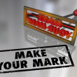 Make Your Mark Branding Iron Lasting Impression — Stock Photo
