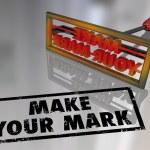 Make Your Mark Branding Iron Lasting Impression — Stock Photo