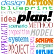Plan Word Background Idea Strategy Method Scheme — Stok fotoğraf