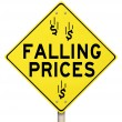 Falling Prices Reduced Slashing Costs Special Sale Discount — Stock Photo