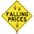 Stock Photo: Falling Prices Reduced Slashing Costs Special Sale Discount