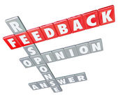 Feedback Word Letter Tiles Response Opinion Answer Rating — Stock Photo