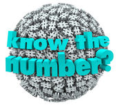 Know the Number Question Pound Symbol Hashtag Sphere — Stock fotografie