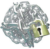 Chain Link Ball Lock Secure Commitment — Stock Photo