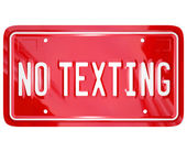 No Texting License Plate Warning Danger Text Message — Stock Photo