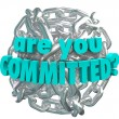 Are You Committed Chain Link Ball Determined Goal — Stok fotoğraf