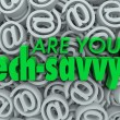 Are You Tech Savvy Email Symbol SIgn Background — Stock Photo