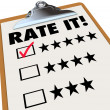 Rate It Stars Reviews Feedback Clipboard — Photo