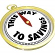 This Way to Savings Compass Sale Clearance Blowout — Stock Photo #32471493