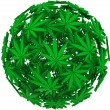 Stock Photo: Medical MarijuanLeaf Sphere Background
