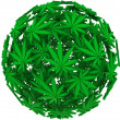 Medical Marijuana Leaf Sphere Background — Stock Photo