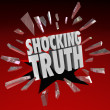 Shocking Truth Words News Information Surprise — Stock Photo #32471833