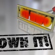 Own It Branding Iron Ownership Claim Responsibility — Stock Photo