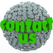 Stock Photo: Contact Us Symbol Sphere Customer Feedback Comments