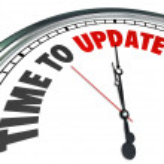 Es hora de actualizar reloj palabras renovar mejora — Foto de Stock