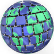Planet Earth Globe Sytlized Abstract World Global Business — Stock Photo