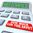 Stock Photo: Refinance Calculator How Much CYou Save Mortgage Payment