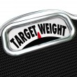 Stock Photo: Target Weight Words Scale Healthy Goal Fitness