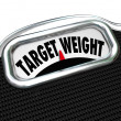 Target Weight Words Scale Healthy Goal Fitness — Stock Photo #32473095
