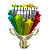 Personal Best Winner Trophy Pride in Accomplishment — Stock Photo