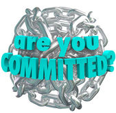 Are You Committed Chain Link Ball Determined Goal — Stock Photo