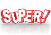 Super 3D Word Best Choice Powerful Great Compliment — Stock Photo