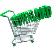 Download Shopping Cart Word Digital File Purchase — Stock Photo